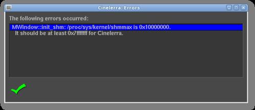 Cinelerra Error