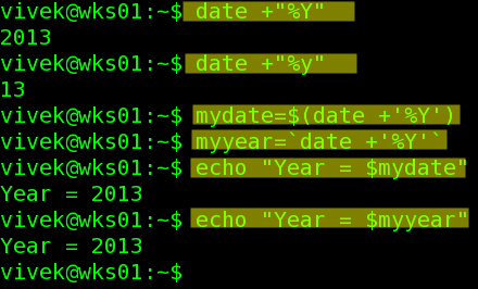 Fig.01: date command in action