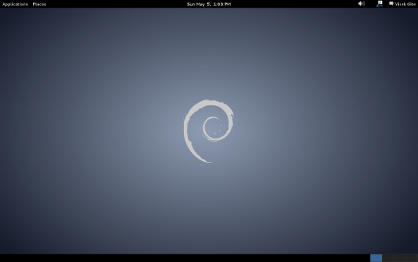 Fig.01: Debian Linux 7.0 Desktop