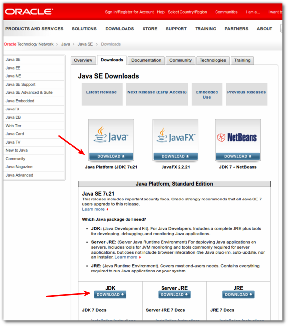 Fig.04: Download Oracle Java 7