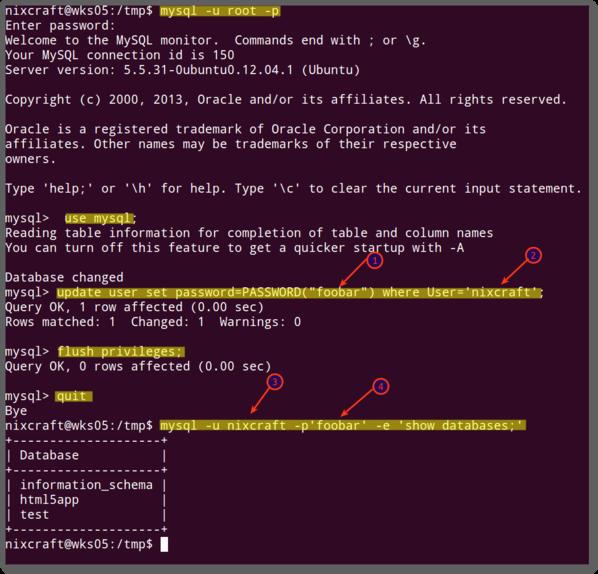 Mysql Change Root Password Nixcraft