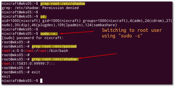Linux sudo command