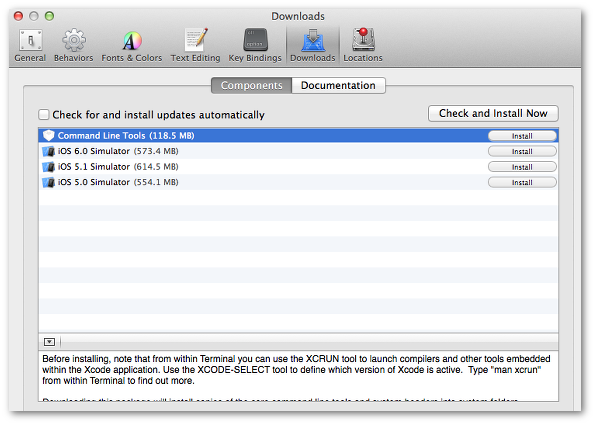 Fig.01: Install gcc compiler on Mac OS X