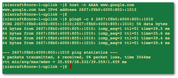 Ping IPv6 IP Address With ping6 Command