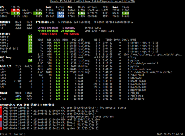 Linux Keep An Eye On Your System With Glances Monitor