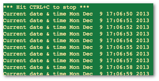 Fig.01: Python sleep() demo program output