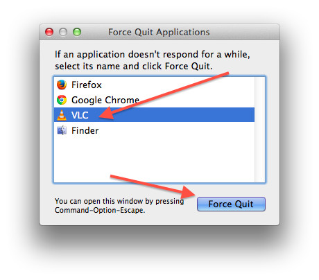 Mac OS X: Force Quit An Unresponsive Full Screen Application Shortcut Key