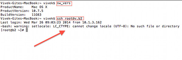 OS X Terminal: -bash: warning: setlocale: LC_CTYPE: cannot change locale (UTF-8): No such file or directory Fix