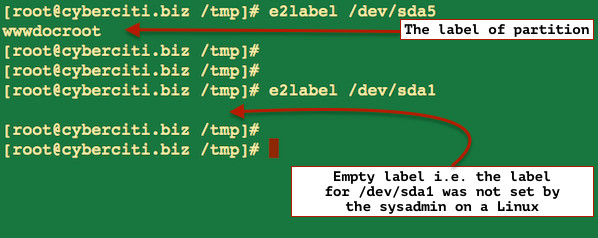 Linux Change Disk Label Name on EXT2 / EXT3 / EXT4 File Systems