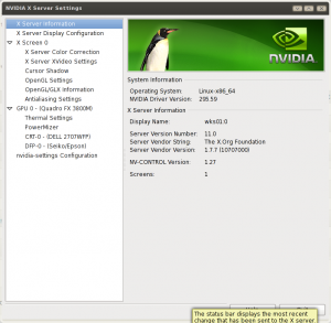 Linux NVIDIA X Server Settings