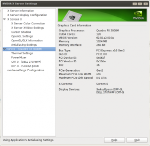 Linux NVIDIA X Server Finding GUP Hardware Details