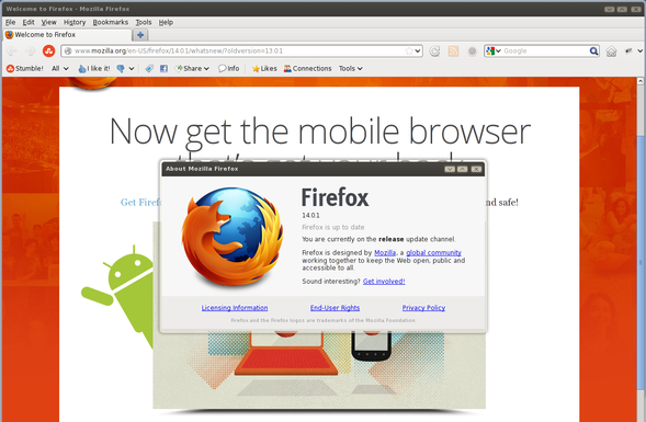Firefox 14 in action