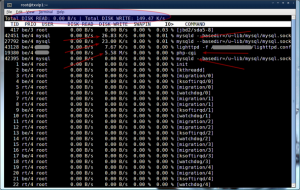 Fig.01: iotop: Linux Disk I/O Monitor Command in Action