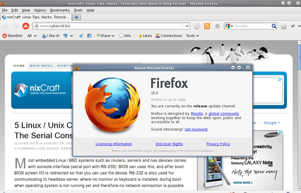 Firefox 15 in action