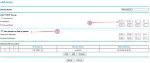 Fig.03: Netgear N600 (DGND3700) Static Lan IP Configuration For Wireless Bridge