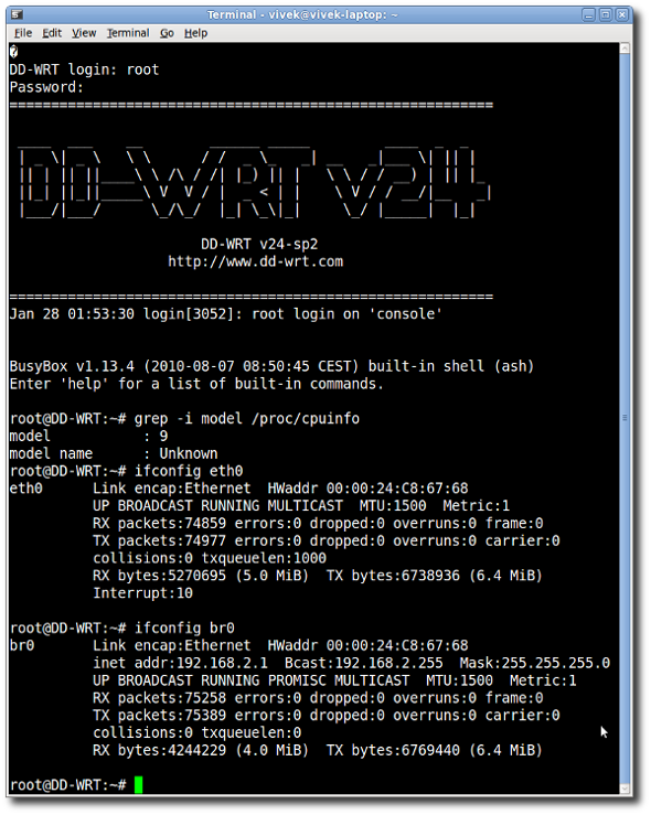 Fig.02: serial command connected to my personal router powered by dd-wrt