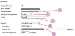 Fig.06: Tomato wireless settings for br0