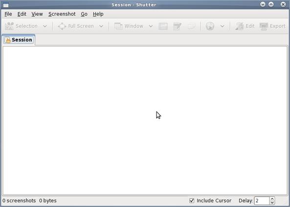 Shutter screenshot default window
