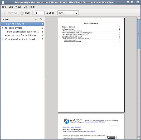 Linux / Unix HTML to PDF File Command Line Option