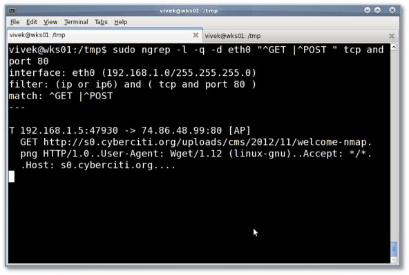 Fig.02: ngrep in action