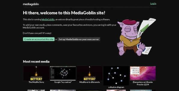 MediaGoblin - Cool FOSS Software of 2013 - nixCraft