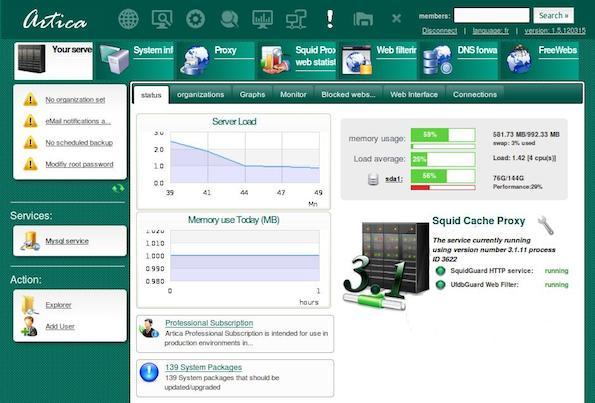 Artica Proxy/SMTP server Appliance - Cool Software of 2013 - nixCraft