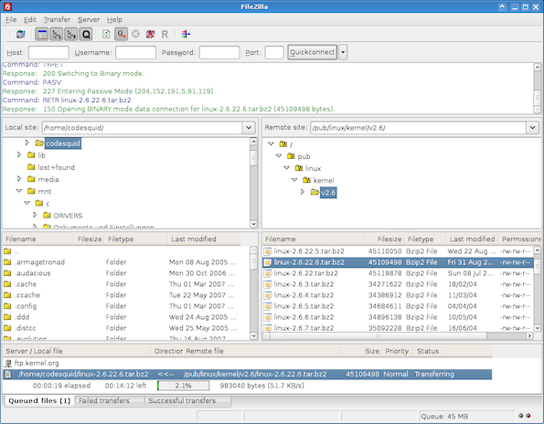 FileZilla - Cool FOSS Software of 2013 - nixCraft