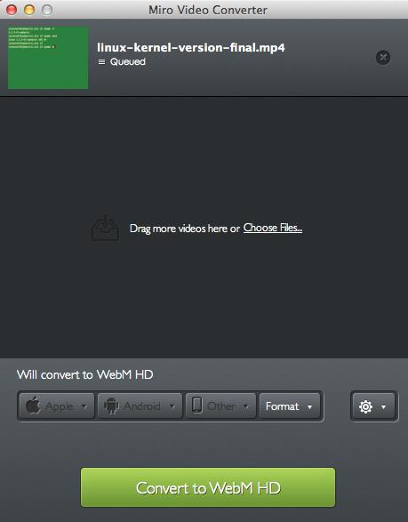 Miro video converter - Cool FOSS Software of 2013 - nixCraft