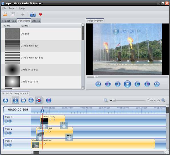 Openshot - Cool Opensource Software of 2013 - nixCraft
