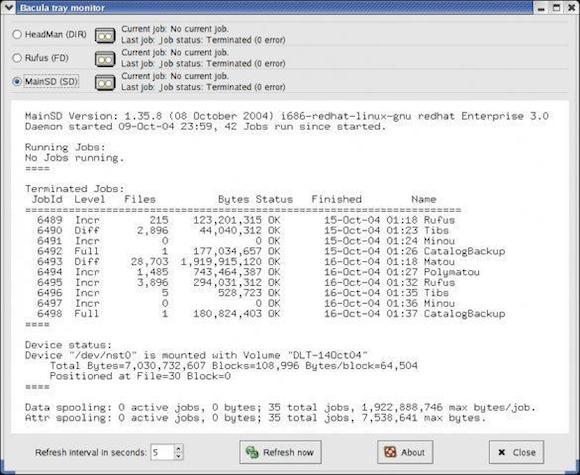 Software de Backup Bacula Rede