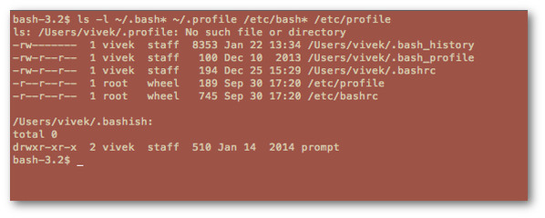 Fig.05:  List all bash environment configuration files