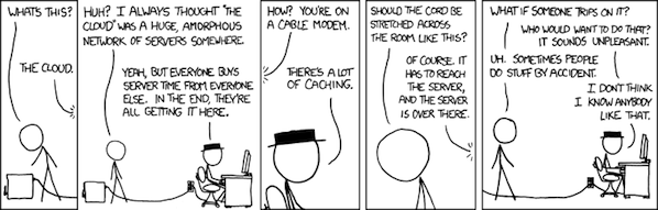 The cloud - Source http://www.xkcd.net/908/
