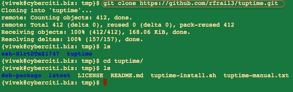 Fig.02: Cloning a git repo