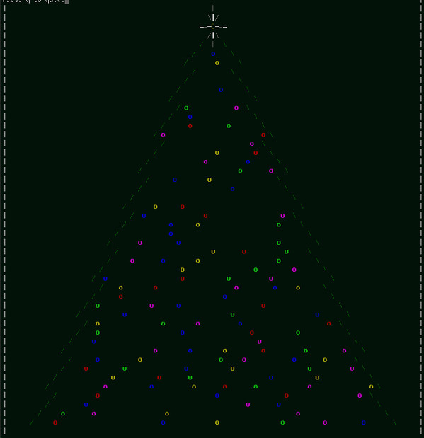 Linux / Unix Desktop Fun: Christmas Tree For Your Terminal