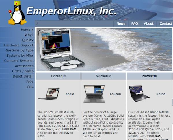 Emperor Linux-laptop