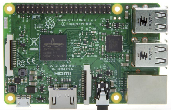 Fig.01: Raspberry Pi 3 - Model B - 64 Bit ARMv8 with 1G RAM and WiFi