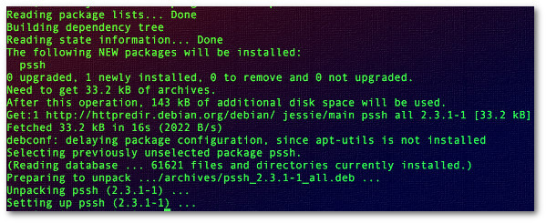 Fig.01: Installing pssh on Debian/Ubuntu Linux