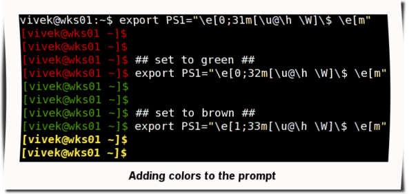 Fig.02: Adding the colors to the prompt