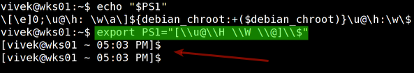 Fig.01: New prompt in action