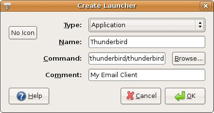 Howto install thunderbird-2.0.0.0.tar.gz and create an ICON in Linux