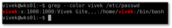 Grep command in action