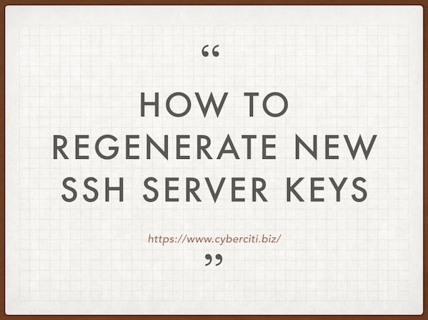 How to regenerate new ssh server keys
