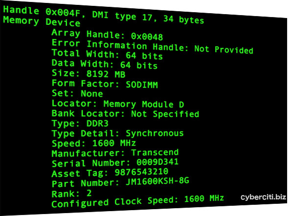 Linux: Check Ram Speed and Type – nixCraft