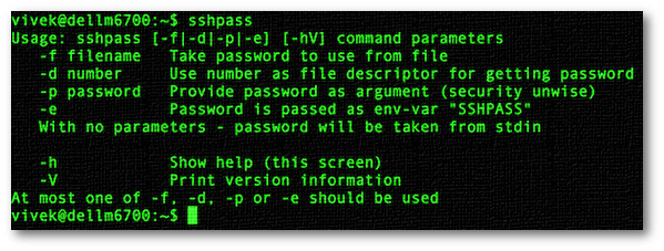Fig.02: sshpass command in action