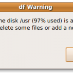 UNIX Get An Alert When Disk Is Full