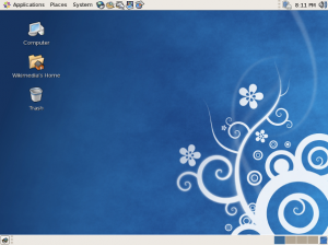 Fig.01: CentOS running GNOME Desktop (credit wikipedia)