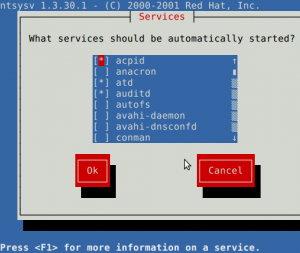Linux Guidance on Default Services