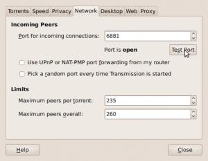 Transmission Ubuntu BT Client