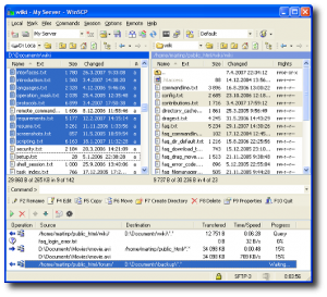 Fig.01: Winscp transfer files from one UNIX server to another (image credit Winscp website)