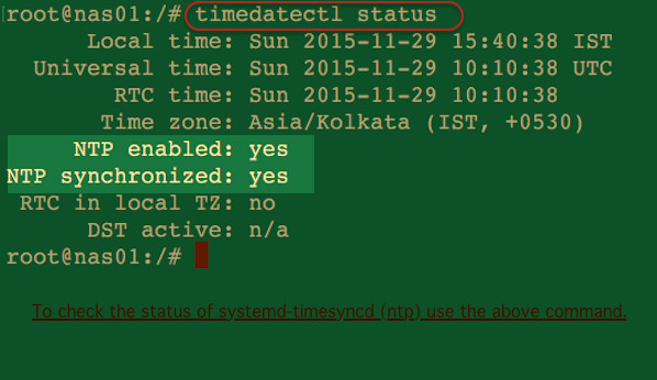 Fig.01: Is my NTP (systemd-timesyncd) Working?
